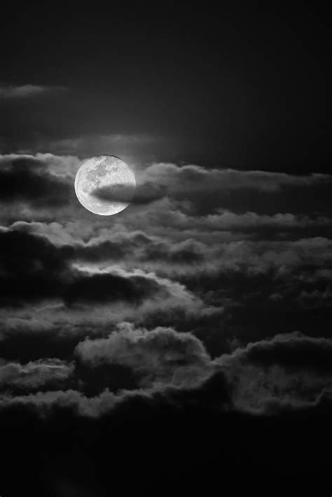 Moonlight | A pretty full moon playing with the clouds